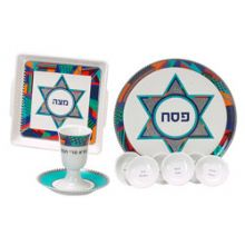 Porcelain Seder Set - Modern Art