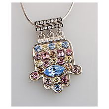Designer Hamsa Necklace - Lots of Stones