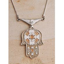 Deco Art Hamsa Necklace