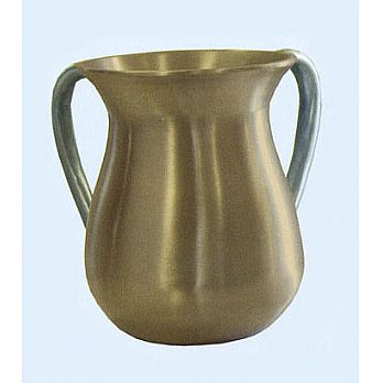 Modern Steel Wash Cup by Emanuel - Gold