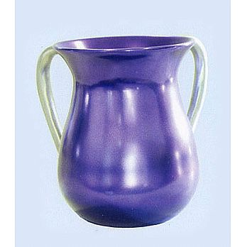 Modern Steel Wash Cup by Emanuel - Purple