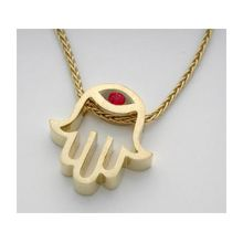 18K Gold Hamsa Pendant / Necklace