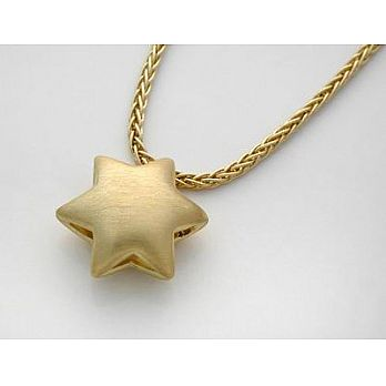18K Convex (curved) Star of Gold