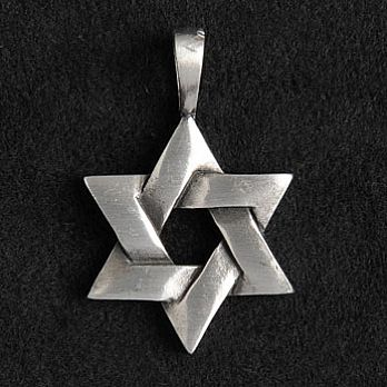 Pewter Star of David Necklace - Braided