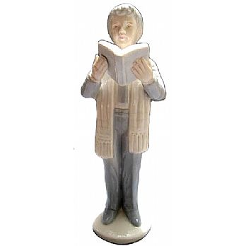 Porcelain Bar Mitzvah Boy Statue