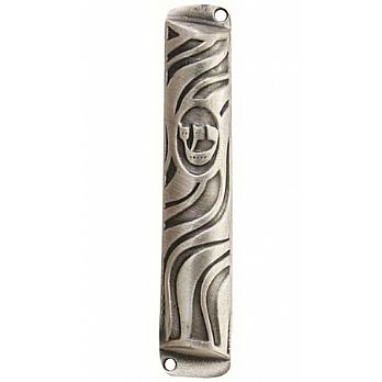 Metal Mezuzah Cover - Swirls