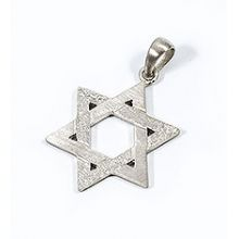 Large Sterling Silver Traditional Star of David Pendant