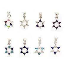X-Small Silver Star of David Pendant - CZ's