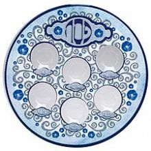 Laminated Passover Seder Plate - Oriental, Perfect for The Passover seder Plate