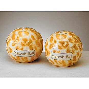Ceramic Matzah Ball Salt & Pepper Shakers
