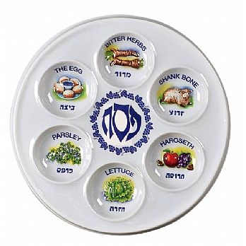 Disposable Plastic Seder Plates - 1 Dozen