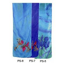 Judaic Painted Silk Scarves - Pomegranates
