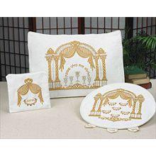 Embroidered Passover Matzah, Afikomen & Pillow Set