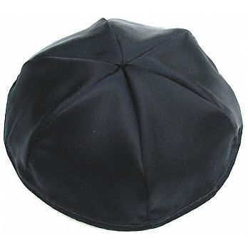 Satin Kippot with Optional Personalization - Black