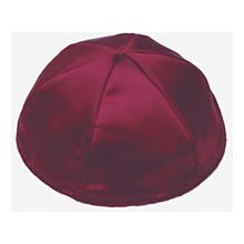 Satin Kippot with Optional Personalization - Burgundy