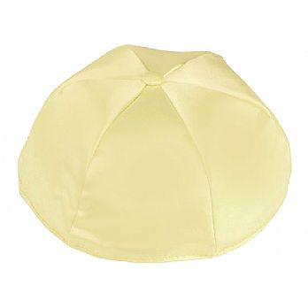 Satin Kippot with Optional Personalization - Pale Yellow