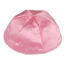 Satin Kippot with Optional Personalization - Medium Pink
