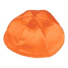Satin Kippot with Optional Personalization - Orange