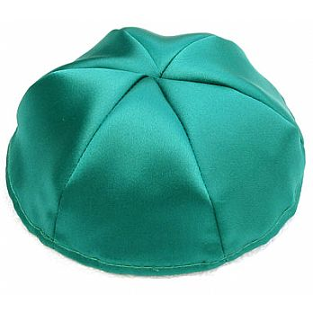 Satin Kippot with Optional Personalization - Teal