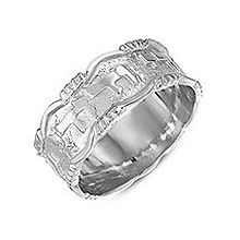 Sterling Silver Ani Ledodi Wedding Band - Ornate