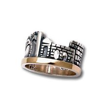 Jerusalem Gold and Silver Ring