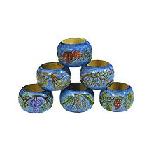 Wooden Painted Napkin Rings - 7 Species