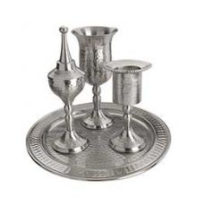 Pewter Hammered Havdallah Set