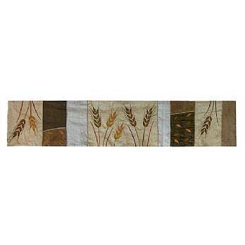 Judaic Table Runner - Wheat in Gold