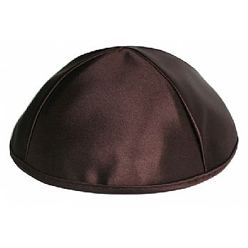 Premium Satin Kippah -Brown