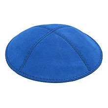 Royal Blue Suede Kippot