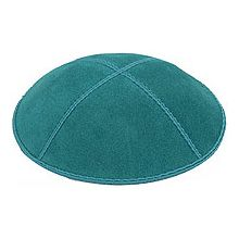 Teal Suede Kippot