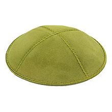 Lime Suede Kippot