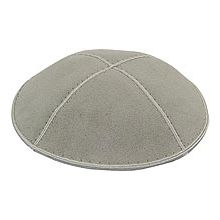 Light Grey Suede Kippot