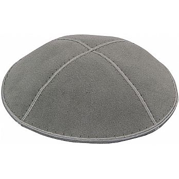 Medium Grey Suede Kippot