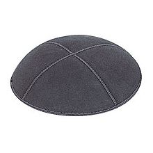 Dark Grey Suede Kippot