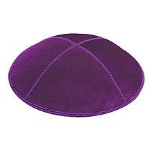 Purple Suede Kippot
