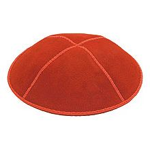 Orange Suede Kippot