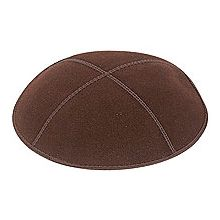 Brown Suede Kippot