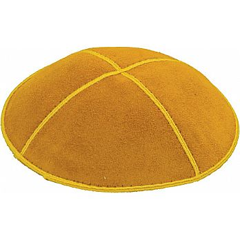 Yellow/Gold Suede Kippot