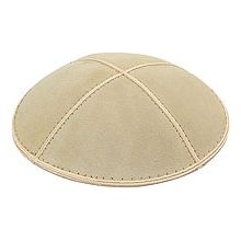 Ivory/Cream Suede Kippot
