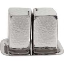 Aluminum Salt & Pepper Shaker Set By Emanuel - Hammered