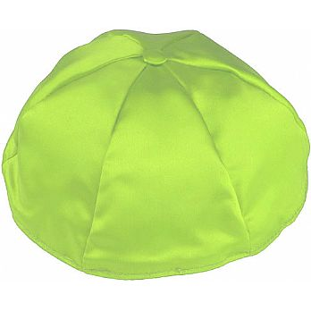 Satin Kippot with Optional Personalization - Lime Green