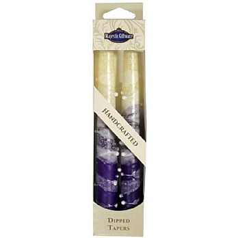 2 Pack Safed Taper Candle - Classic Purple