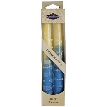 2 Pack Safed Taper Candle - ClassicTurquoise