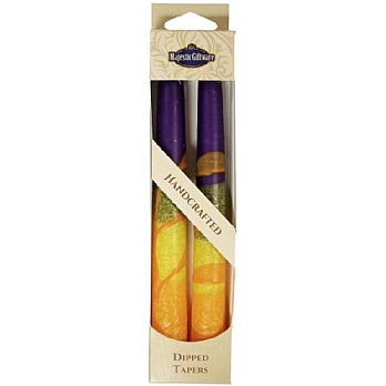 2 Pack Safed Taper Candle - Harmony Purple