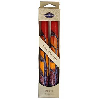 2 Pack Safed Taper Candle - Harmony Red