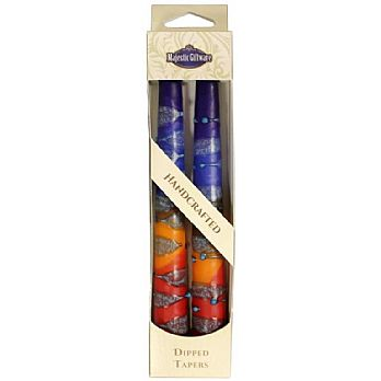 2 Pack Safed Taper Candle - Rainbow Blue
