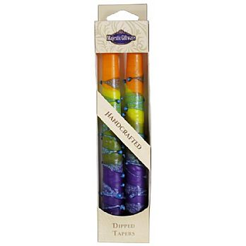 2 Pack Safed Taper Candle - Rainbow Orange