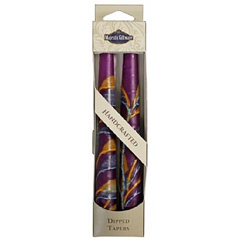 2 Pack Safed Taper Candle - Double Tree Violet