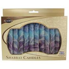 12 Pack Safed Shabbat Candle - Fantasy Blue